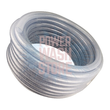 Poly braided chemical tubing