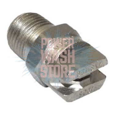 "Spraying System 1/4"" 25 Degree Screw-In Nozzle Stainless Steel"