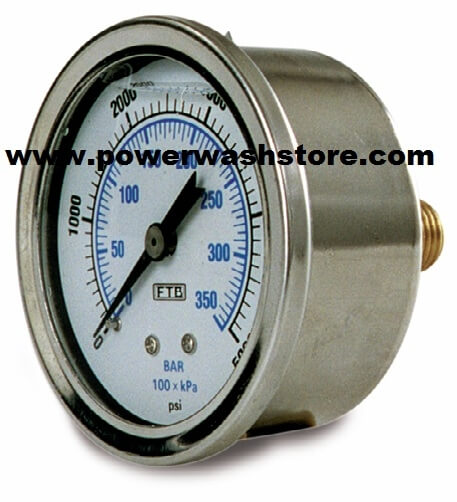 Back Mount Gauge - 5000 psi #3138