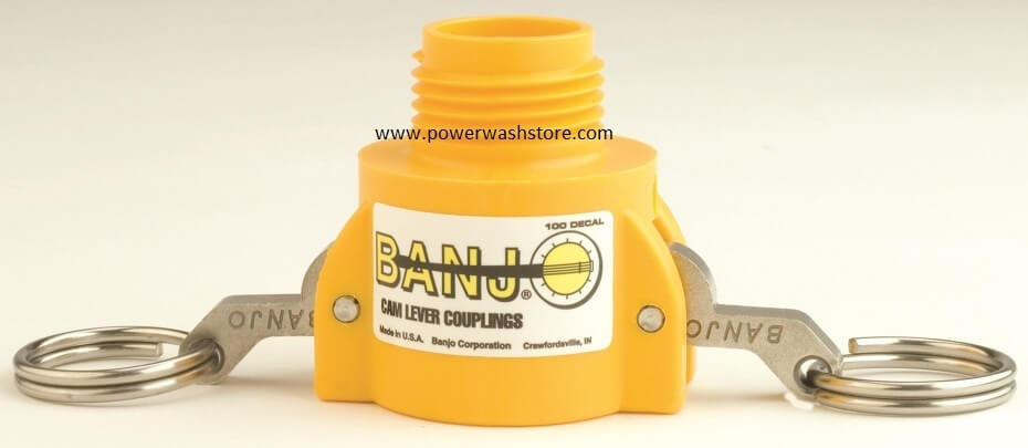 Banjo Polypropylene Coupler - Garden Hose Male Thread