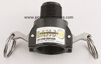 Banjo Polypropylene Female Coupler-Male Thread