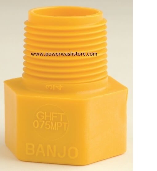 Banjo Polypropylene Female NPT- Garden Hose Male Thread
