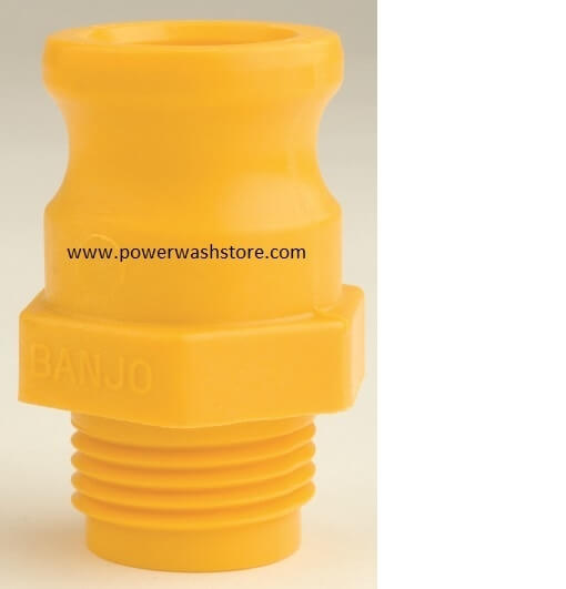 Banjo Polypropylene Male Adaptor- Garden Hose Male Thread