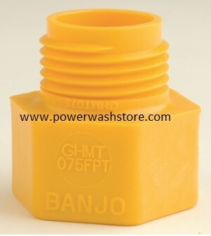 Banjo Polypropylene Male NPT- Garden Hose Female Thread