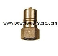 "Double Shut Off Quick Connect Plug - Brass 3/8"" FPT"
