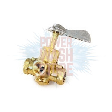 "Flow Selector Valve 1/4""FPT 4-Way #3078"