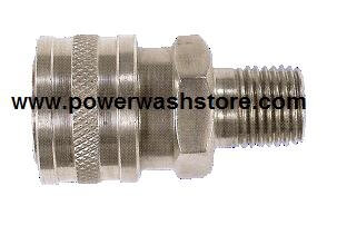 Hansen Stainless Steel- 3/8 MPT Coupler #1863