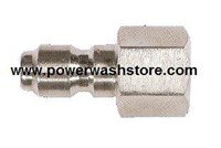 "Hansen Stainless Steel - 1/4"" FPT Quick Connect Plug"