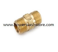 Hex Nipple- Brass