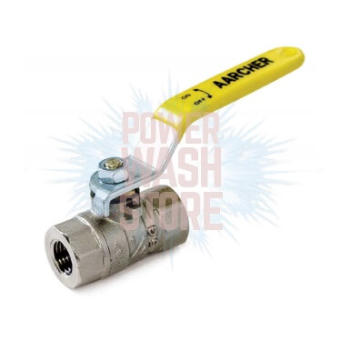 "Nickel-Plated Brass Ball Valve 1"" #3019 for Sale Online"