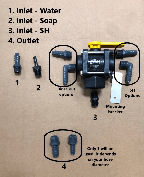 PROPORTIONER Rinse Valve/Installation Kit from Power Wash Store