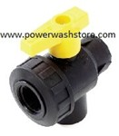 Polypropylene 3-Way Ball Valve
