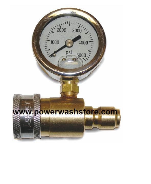 Quick Connect Pressure Gauge #3127