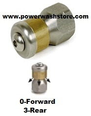 "Spinner/Rotating Sewer Nozzle 1/4"" NPT"