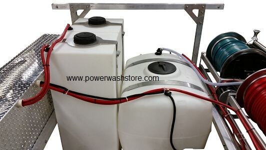 water and soap tanks for pressure washers