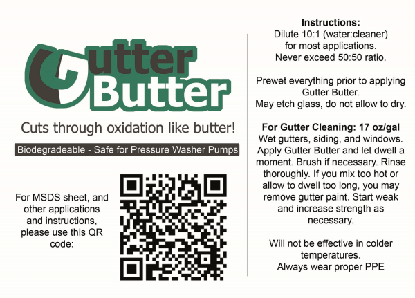 5-Gal Gutter Butter Rust Remover for Softwashing
