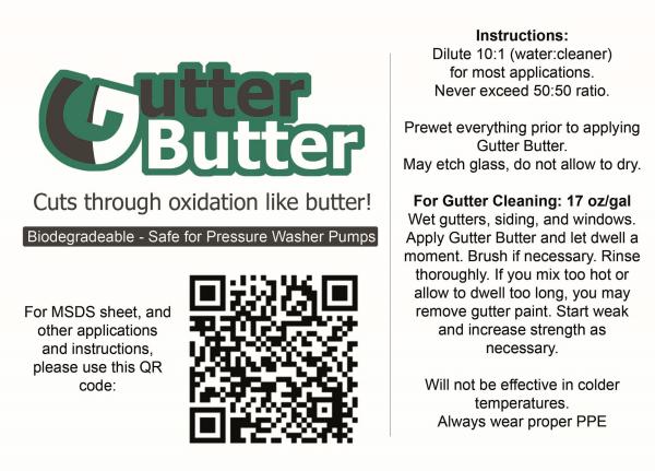Gutter Butter Gutter Cleaner 5 Gal Softwash Detergent