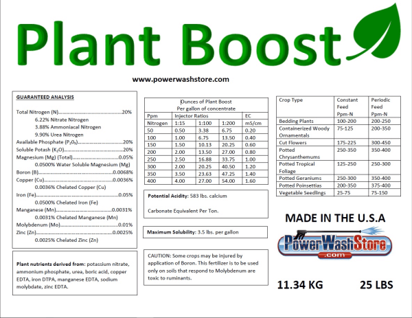 Plant Boost Plant Protectant #PB-25 for Sale Online