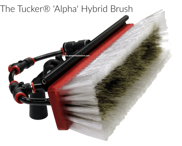 tucker alpha brush hybrid brush with swivel and top rinse bar