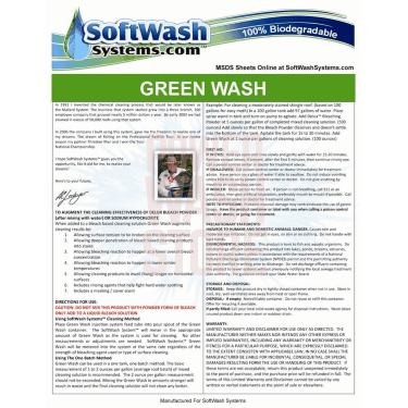 Green Wash-5 gallon detergent GW-5