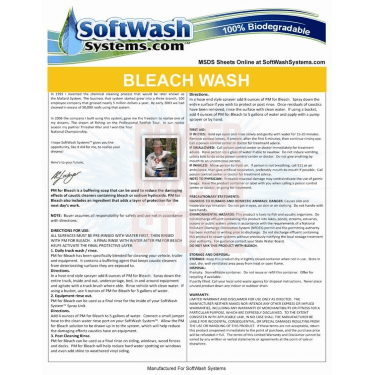 Bleach Wash Finishing Soap 30 Gallon