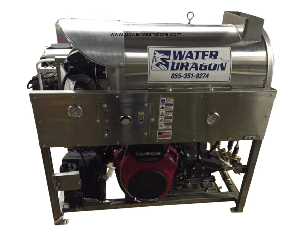 Water Dragon Hot Water Skid 10.0@3000 Gas Engine Softwash machine