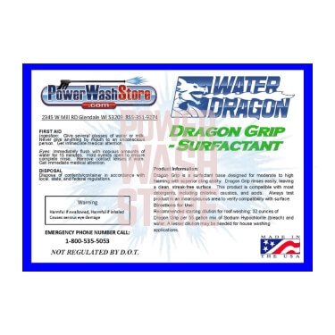 Water Dragon - Dragon Snot Detergent for Pressure Washers